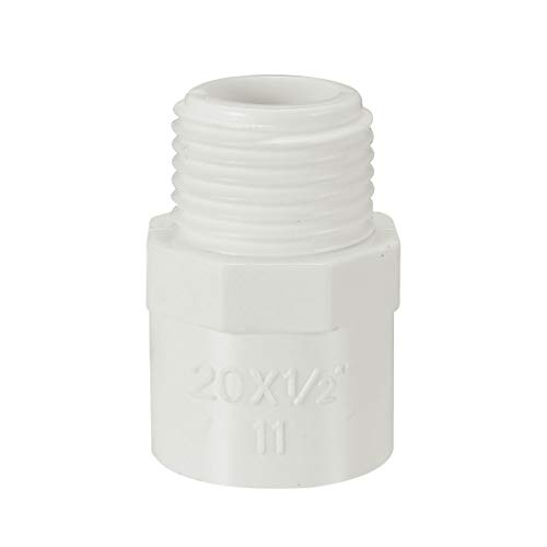 uxcell 20mm Slip x 1/2 PT Male Thread PVC Pipe Fitting Adapter Connector 10 Pcs