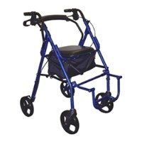 - 795BU - Duet Dual Function Transport Wheelchair Walker Rollator, Burgundy
