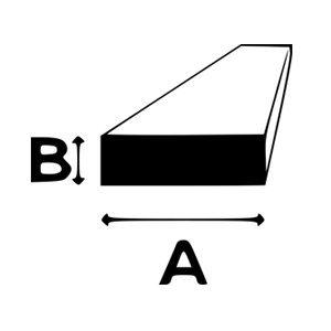 BARRA PIATTA ALLUMINIO 6060T6 mm 10X2 Lunghezza= 2 Metri