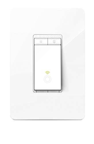 TP-LINK HS220P3 Kasa Smart WiFi Light Switch (3-Pack), Dimmer by TP-Link - Dim Lighting from Anywhere, Easy In-Wall Installation (Single-Pol Only), Compatible with Alexa and Google Assistant, White by TP-LINK (Image #1)
