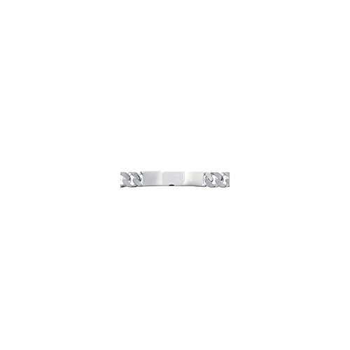 ISADY - Adil 10 - Bracelet - Argent 925 - Gourmette à graver - Gravure Offerte - Maille Gourmette - Longueur 22 cm - Largeur 10 mm