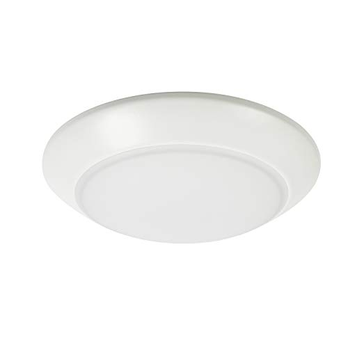 "ED Low Profile Recessed and Surface Mount Disk Light, DC Version, 120VAC, 14W, 1000LM, CRI90, 3000K, Dimmable for 4"", 5"", 6"" Recessed Can and 3"", 4"" Junction Box, ETL/ES/Title 24 ()"