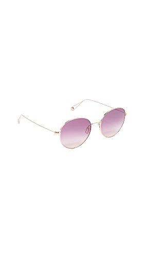 GARRETT LEIGHT Women's Valencia Sunglasses, Rose Gold/Lavender, One - Sunglasses Garrett