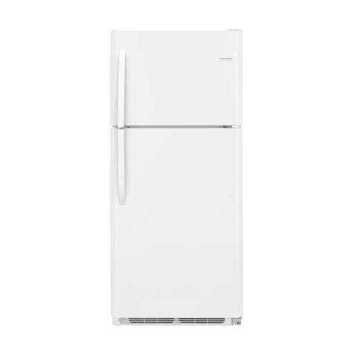 Frigidaire FFTR2021TW 30 Inch Freestanding Top Freezer Refrigerator with 20 cu. ft. Total Capacity, 2 Glass Shelves, 5.1 cu. ft. Freezer Capacity, in ()