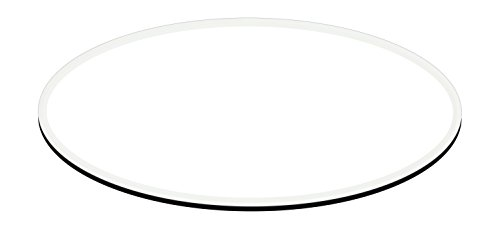 Fab Glass and Mirror 42 X 72 E Oval Egg 1 2 Thick Tempered 1 Inch Beveled Polished Edge Glass Table Top, Clear