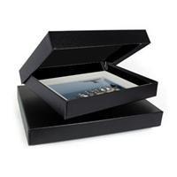 Archival Methods Onyx 20'' x 24'' x 2'' Portfolio Box, 20.25'' x 24.25'', Black Buckram / Black Lining.