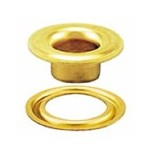 #1 SELF-PIERCING GROMMET and WASHER BRASS (3000 pcs. of each) by Stimpson Co., Inc.