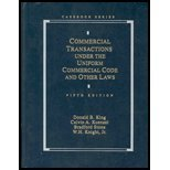 Commercial Transactions under the Uniform Commercial Code and Other Laws 5th Edition