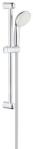 Grohe Classic Bar Faucet - GROHE 2759810E Tempesta Classic 100 Spray Shower Rail Set, Starlight Chrome