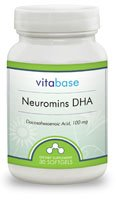 Neuromins DHA (100 mg) 30 Softgels per Bottle (6 Pack) by Vitabase