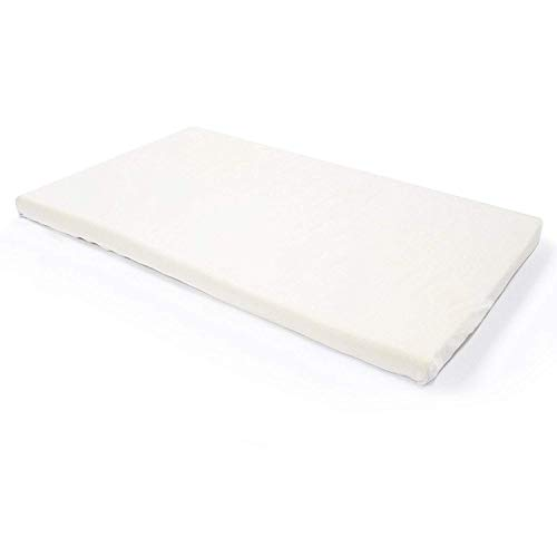 ilated Memory Foam Crib/Toddler Bed Mattress Topper with Removable Waterproof 65-Percent Cotton Non-Slip Cover - 52