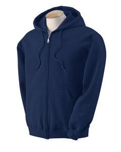 Gildan Adult Heavy Blend Full-Zip Hooded Sweatshirt (Navy) (1 Adult Hooded Sweatshirt)