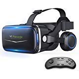 Pansonite Virtual Reality Headset with HD Glass Lens,Virtual Reality Goggles 3D VR Goggles VR Headset VR Glasses for 3D Video Movies Games, Compatible with Smartphones Within 4.7-6.2 Inch (01)