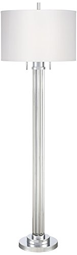 - Possini Euro Cadence Crystal Column Floor Lamp