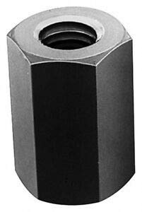 1-1/2-12 UNF, 3-1/2'' Long, Steel, Standard Coupling Nut Zinc Plat. Material May Have Surface Scratches