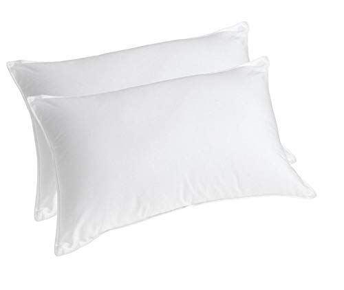 GLOBAL HOME Reliance Micro Fiber Filled Plain Pillow Combo Set of 2 – (16″ x 24″), White