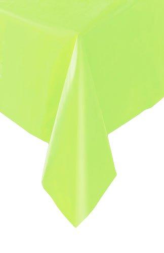 Superieur Plastic Rectangular Table Cloth 54u0026quot; X 108u0026quot;, Lime Green
