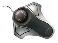 Optical Orbit Trackball Mouse, Two-Button, Black/Silver