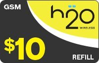 H2O Wireless Pay-As-U-Go PREPAID $10 200-Minute (Refill, Top Up, -