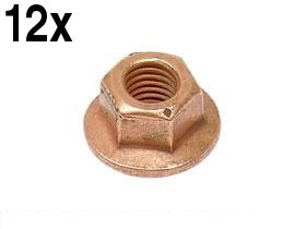 BMW e30 e34 e36 Copper Collar Nut 7mm Exhaust Manifold to Cylinder Head