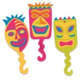 12 ct Tiki Mask Flexi Cupcake Picks, Health Care Stuffs