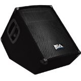 Seismic Audio - SA-10MT-PW-Powered 2-Way 10-Inch Floor/Stage Monitor Wedge Style with Titanium Horn-250 Watts RMS-PA/DJ Stage, Studio, Live Sound Active 10 Inch Monitor