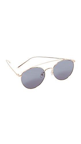 Vedi Vero Women's Round Aviator Sunglasses, Rose Gold/Brown, One - Mirrored Gold Rose Sunglasses Amazon