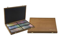 Mungyo Gallery Soft Pastel Squares Wood Box Set of 72 - Assorted Colors by Mungyo Gallery