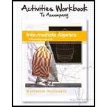 Activities Workbook to Accompany Intermediate Algebra a Modeling Approach, Katherine Yoshiwara, 1936368358