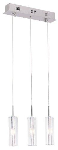 Bel Air Lighting Syrma Adjustable 3-Drop Mini-Pendant, Polished Chrome by Bel Air Lighting
