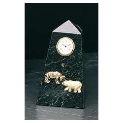 Stock Market Clock - Wall Street Bull and Bear