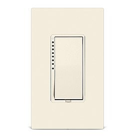 (Insteon 2477SLAL Smart On/Off Wall Switch, Dual-Band, 1800 Watt (Light Almond) - Works with Alexa & Google Assistant via Insteon Hub)