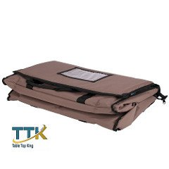 Tabletop king 23'' x 13'' x 15'' Brown Insulated Nylon Food Delivery Bag / Pan Carrier with Microcore Thermal Hot or Cold Pack Kit
