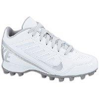 Nike Land Shark 3/4 Lacrosse (BG) 2 US White/Metallic Silver