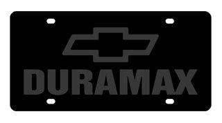 Chevrolet Duramax License Plate on Black Steel Eurosport Daytona Inc.