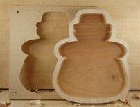 Woodline Bowl and Tray Template Christmas Snowman Design