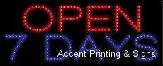 Open 7 Days LED Sign (High Impact, Energy (Open 7 Days Led)