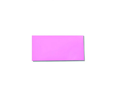 """25 Dry Erase Magnet Shelf Labels 1"""" x 3"""" - Pink - 20 mil"""