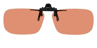 Polarized Clip-on Flip-up Plastic Sunglasses - Rectangle - 62mm X 39mm - Polarized Copper Lenses - Shade Control - Clip Sunglasses Up Plastic On Flip Polarized