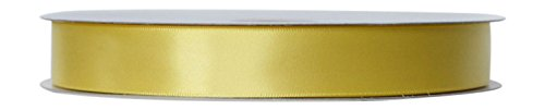 [Ribbon Bazaar Single Faced Satin 1/4 inch Canary 100 yards Ribbon] (Canary Single Sided Satin Ribbon)