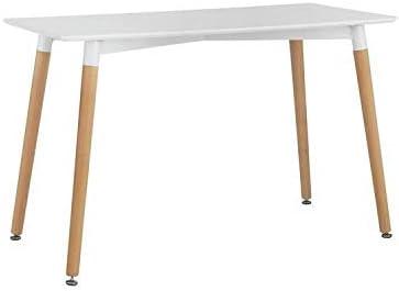Snug Furniture - Mesa de Comedor contemporánea Blanca Rectangular ...