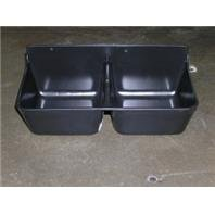 Fortiflex Mineral Feeder for Small Animals, 2-Compartment of 1-3/4-Quart, Black