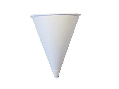 - Solo Bare 4 oz. Recyclable Paper Cone Water Cup, Rolled Rim 800ct. 4R-2050 {Vasos de Agua con Forma de Cono} (4 Boxes (800ct))
