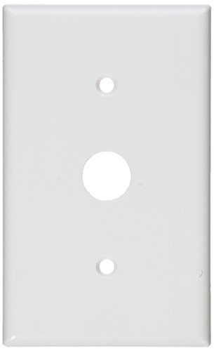 Telephone 1 Gang Leviton (Leviton 88037 1-Gang .625-Inch Hole Device Telephone/Cable Wallplate, Thermoset, Strap Mount, White)