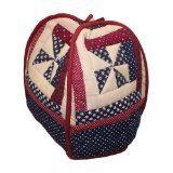 Patch Magic Midnight Log Cabin Tea Cozy, 7 by 10-Inch