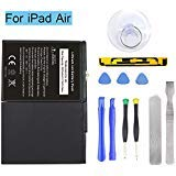 Ogodeal Battery Replacement Kit for Apple iPad Air A1474,A1475,A1476,iPad 5 (5th Generation) Battery with Full Set Repair Tools and Screen Adhesive 365 Days Warranty