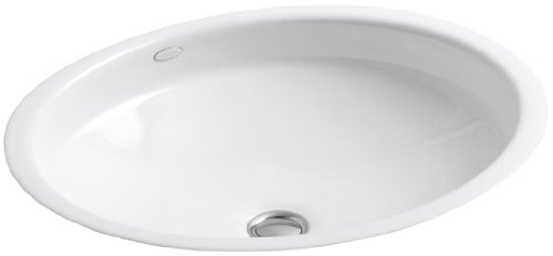 KOHLER K-2874-0 Canvas Cast Iron Bathroom Sink, White by Kohler