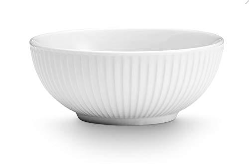 Pillivuyt, Plissé White Porcelain Large Serving/Salad Bowl, 9.5 Inches Diameter, 3 Quarts