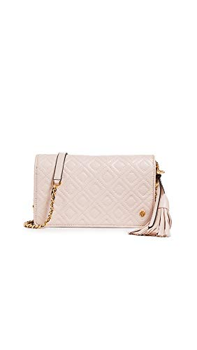 Tory Burch Women's Fleming Flat Wallet Cross Body Bag, Shell Pink, One Size -