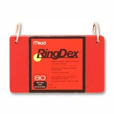"""Index Cards Ringdex,w/Removable,Poly Tab,3""""x5"""",  Category: 8"""